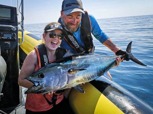 pêche du thon rouge au leurre de surface
